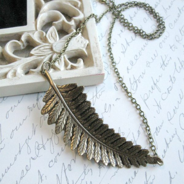 Fern pendant necklace, nature jewelry
