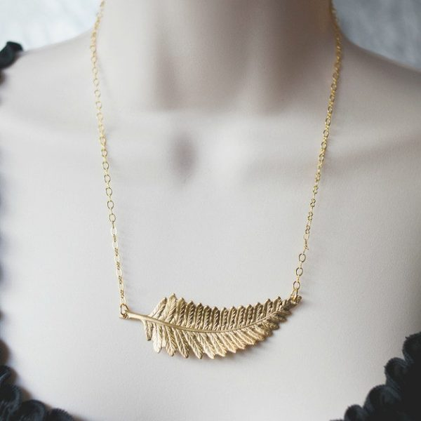 Gold Fern Leaf Necklace